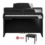 Roland HP-605_Digital Piano_Polished Ebony