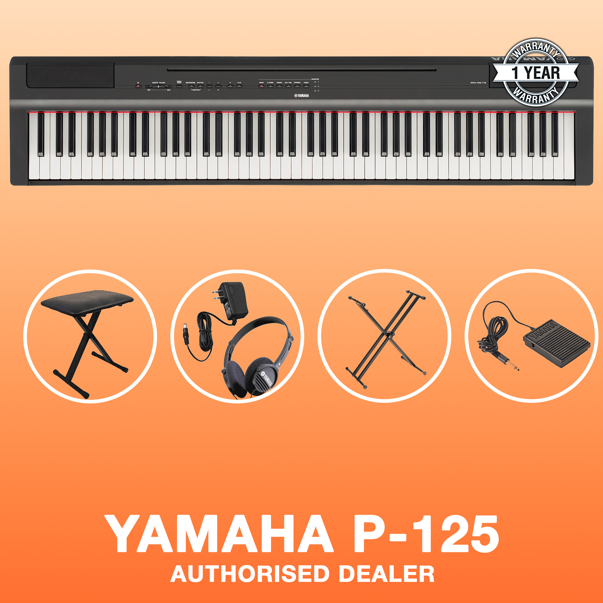Powerblock Singapore: Yamaha P-125 Digital Piano